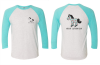Horse of a Different Color 3/4 Sleeve Raglan Tee