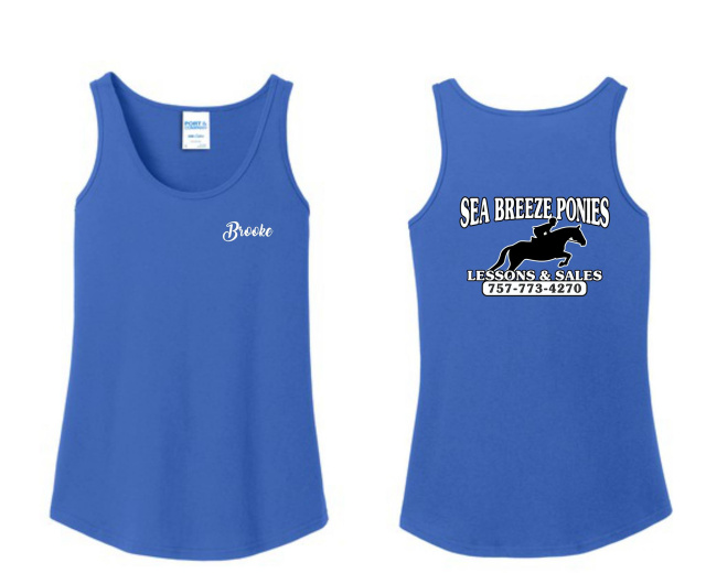 Sea Breeze Ponies Standard Tank Top