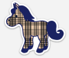 "Horse of a Different Color 3"" Decal"