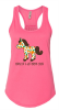 Horse of a Different Color Ladies' Gathered Back Tank Top